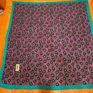 YVES SAINT LAURENT 100% Silk XL Vintage Scarf